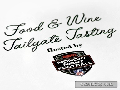 Food & Wine Tailgate Tasting Hosted by ESPN Monday Night Football Reviews